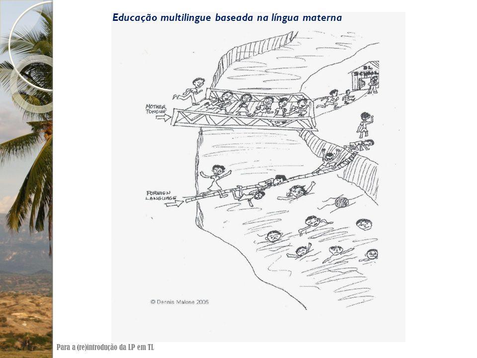 Educação multilingue baseada na língua materna Para a (re)introdução da LP em TL