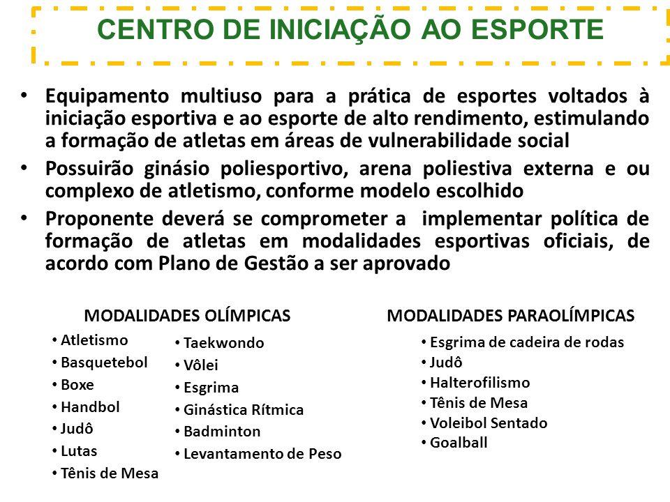 Equipamento multiuso para a prática de esportes voltados à iniciação esportiva e ao esporte de alto rendimento, estimulando a formação de atletas em á