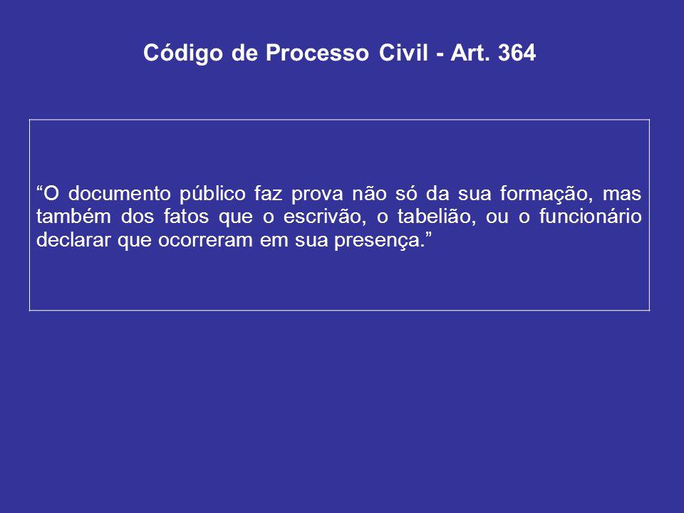 Código de Processo Civil - Art.