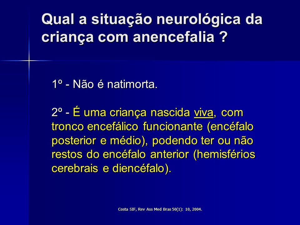 Criança com anencefalia e alta hospitalar