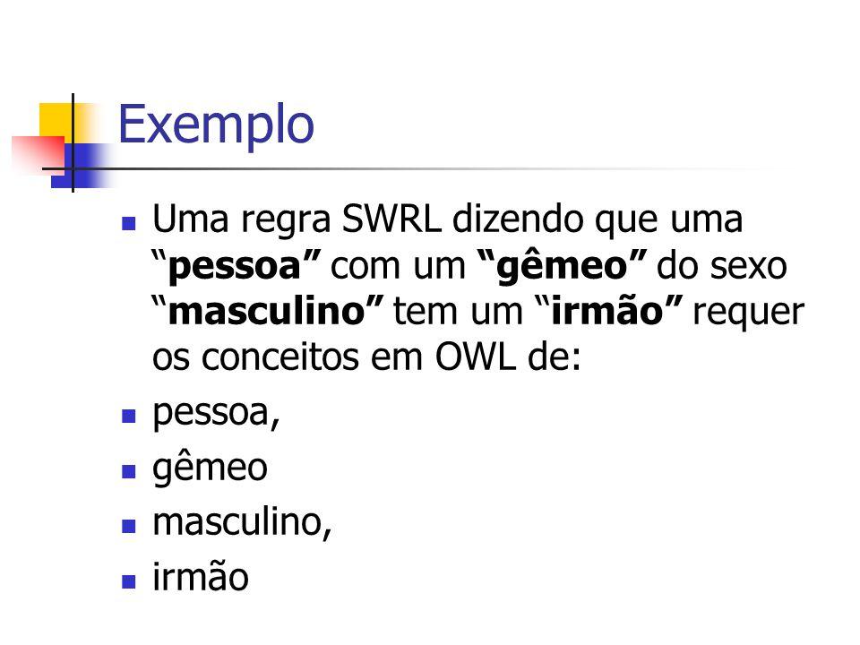 """Exemplo Uma regra SWRL dizendo que uma """"pessoa"""" com um """"gêmeo"""" do sexo """"masculino"""" tem um """"irmão"""" requer os conceitos em OWL de: pessoa, gêmeo masculi"""