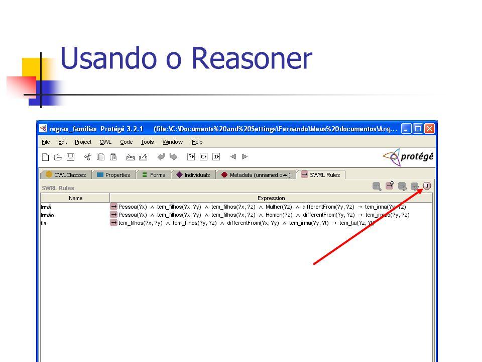 Usando o Reasoner
