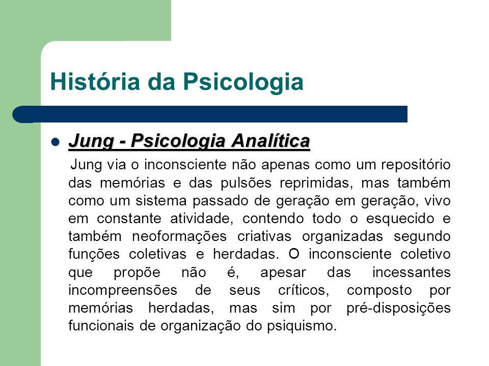 História da Psicologia Jung - Psicologia Analítica Jung - Psicologia Analítica Jung via o inconsciente não apenas como um repositório das memórias e d