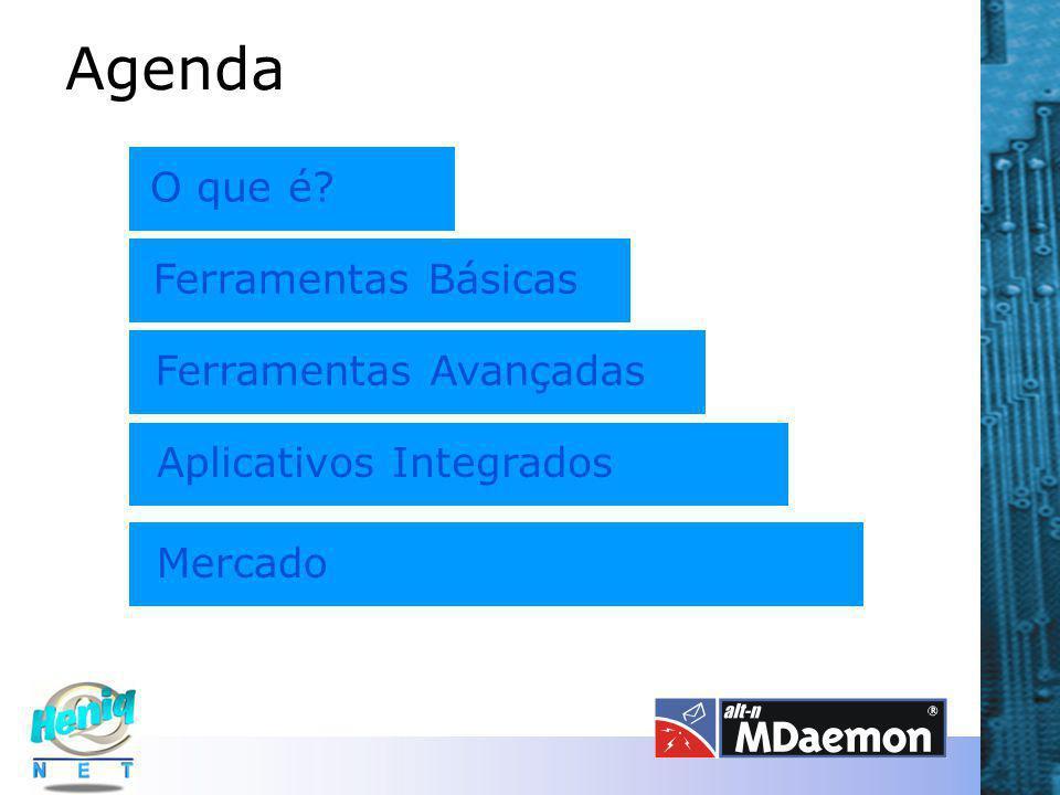 Agenda O que é? Ferramentas Básicas Ferramentas Avançadas Aplicativos Integrados Mercado