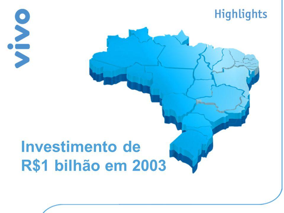 Investimento de R$1 bilhão em 2003