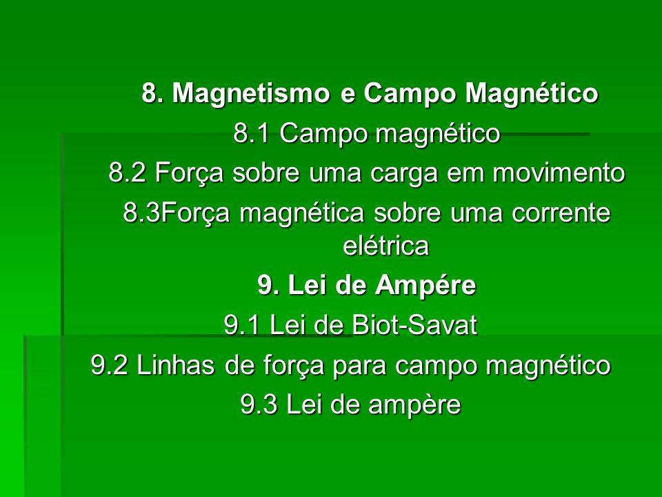 8.Magnetismo e Campo Magnético 8.