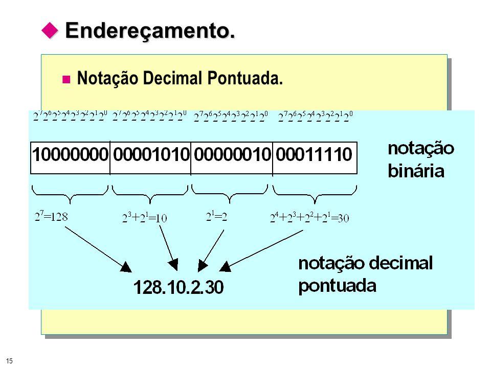 15  Endereçamento. Notação Decimal Pontuada.