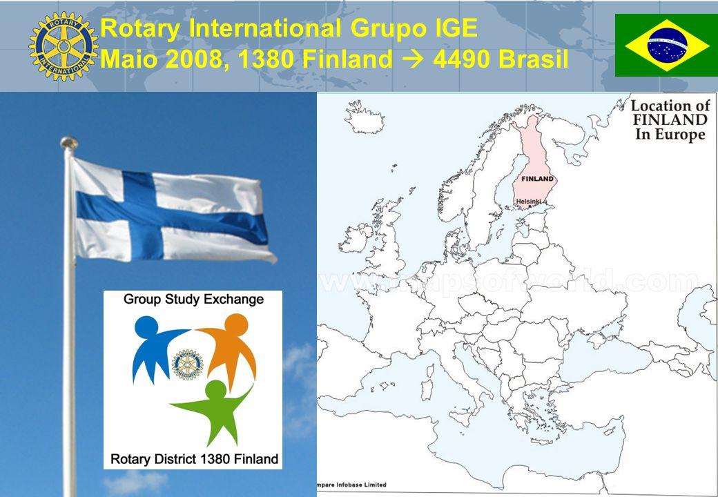Rotary International Grupo IGE Maio 2008, 1380 Finland  4490 Brasil