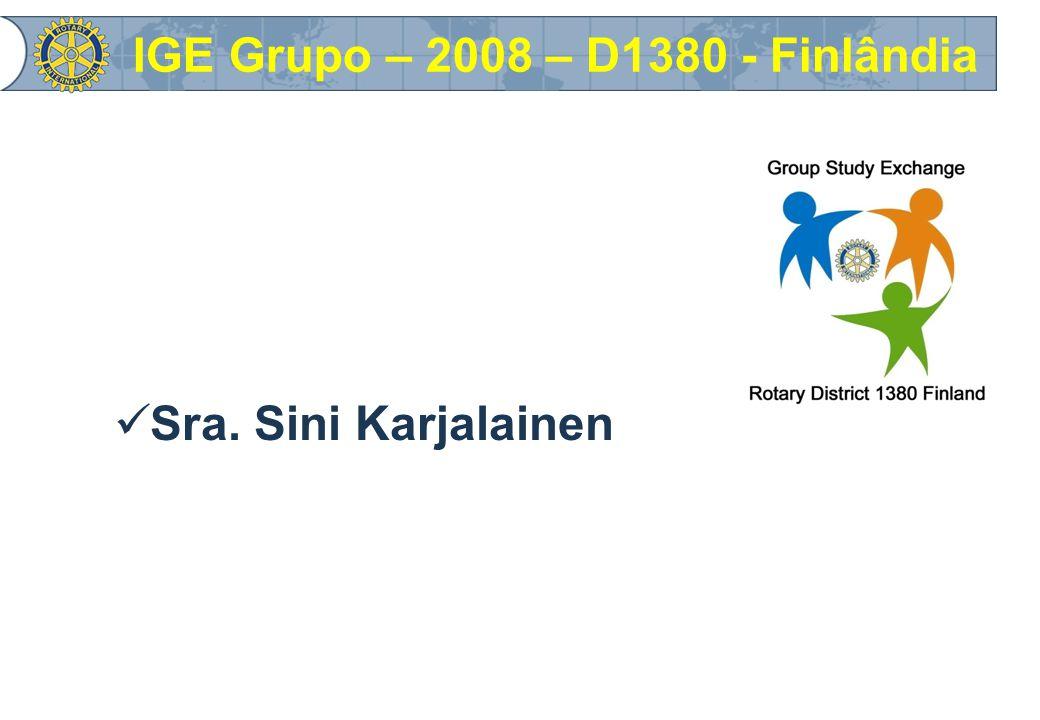 Sra. Sini Karjalainen IGE Grupo – 2008 – D1380 - Finlândia