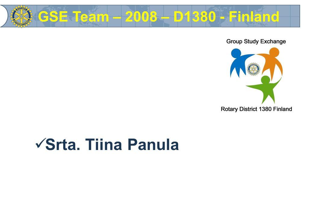 Srta. Tiina Panula GSE Team – 2008 – D1380 - Finland