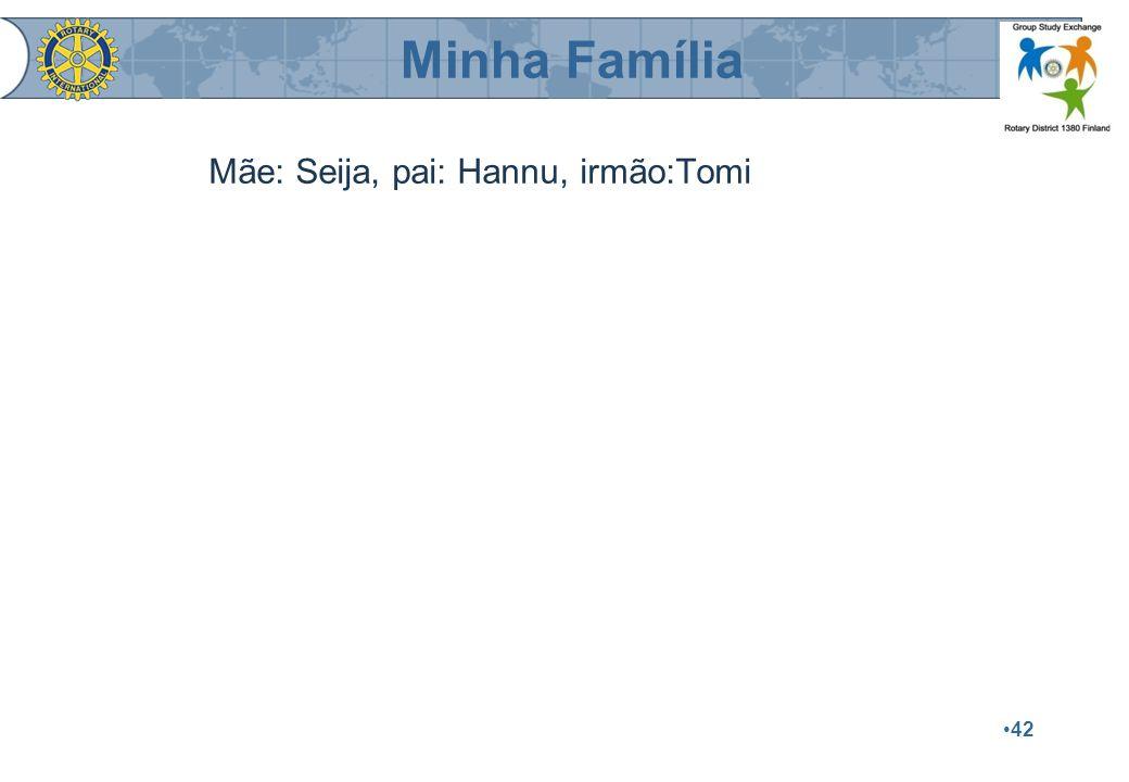 42 Mãe: Seija, pai: Hannu, irmão:Tomi Minha Família