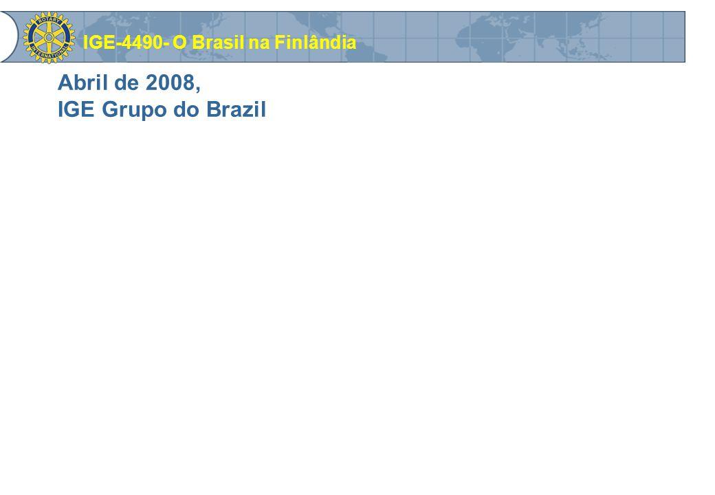 Abril de 2008, IGE Grupo do Brazil IGE-4490- O Brasil na Finlândia