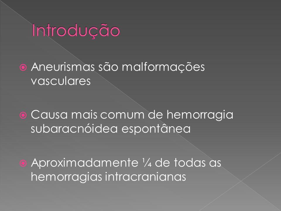  Taxa de complicações relacionadas ao tratamento foi semelhante  Morbidade e mortalidade entre o grupo de remodelamento e o de embolização foi similar  Taxa de oclusão aneurismática foi significativamente maior nos pacientes tratados com a técnica de remodelamento.