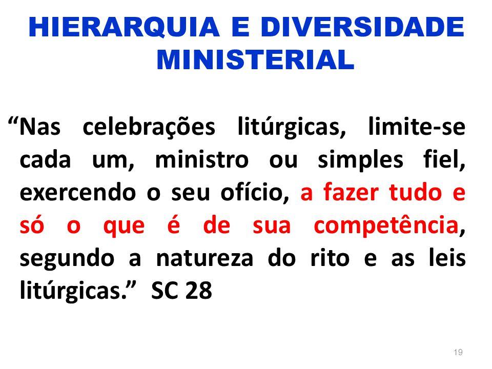 """""""Nas celebrações litúrgicas, limite-se cada um, ministro ou simples fiel, exercendo o seu ofício, a fazer tudo e só o que é de sua competência, segund"""