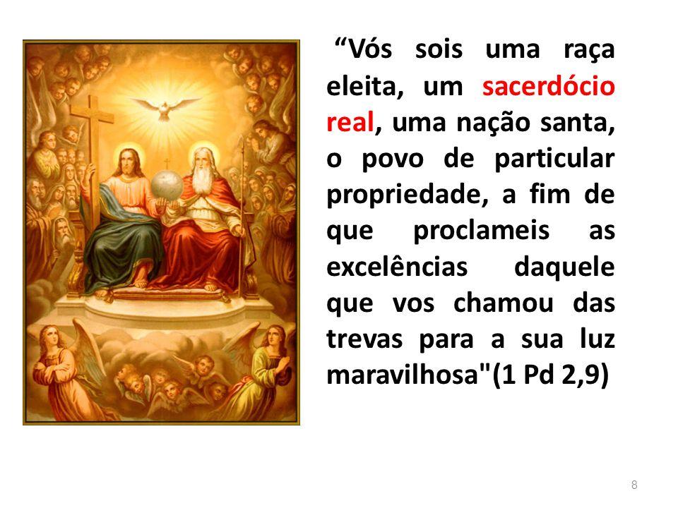 Portanto: Sobretudo na liturgia se exerce o sacerdócio de Jesus Cristo, do qual participam todos os batizados e, de modo particular, os ordenados.