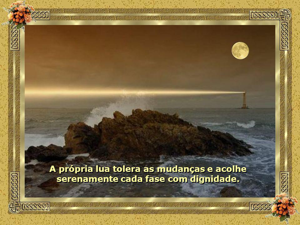 A própria lua tolera as mudanças e acolhe serenamente cada fase com dignidade.