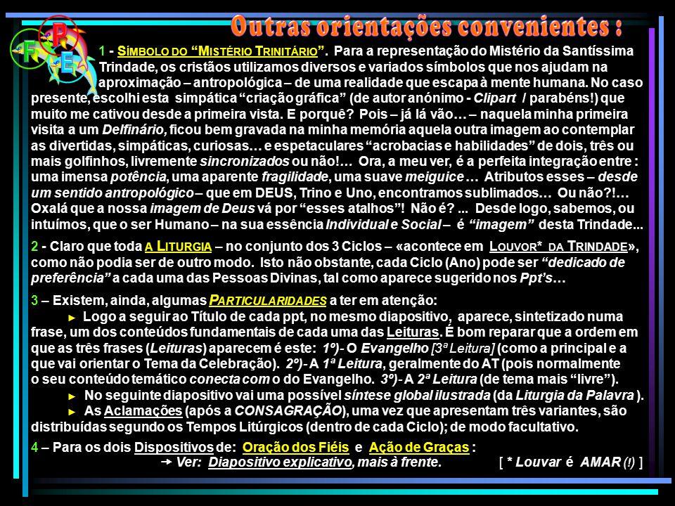 """1 - S ÍMBOLO DO """"M ISTÉRIO T RINITÁRIO """". Para a representação do Mistério da Santíssima Trindade, os cristãos utilizamos diversos e variados símbolos"""