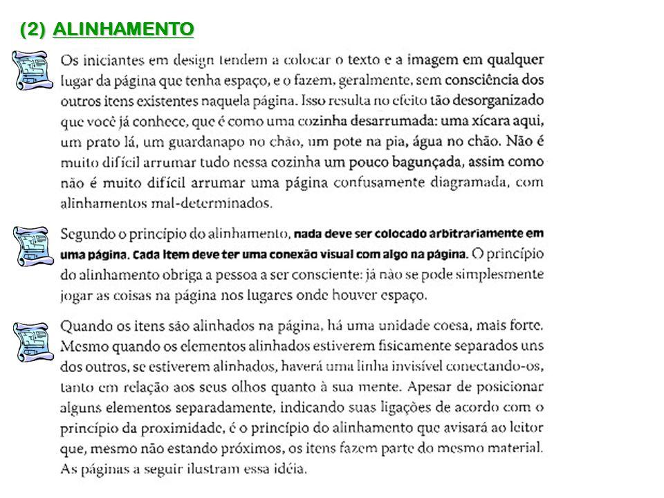 (2) ALINHAMENTO