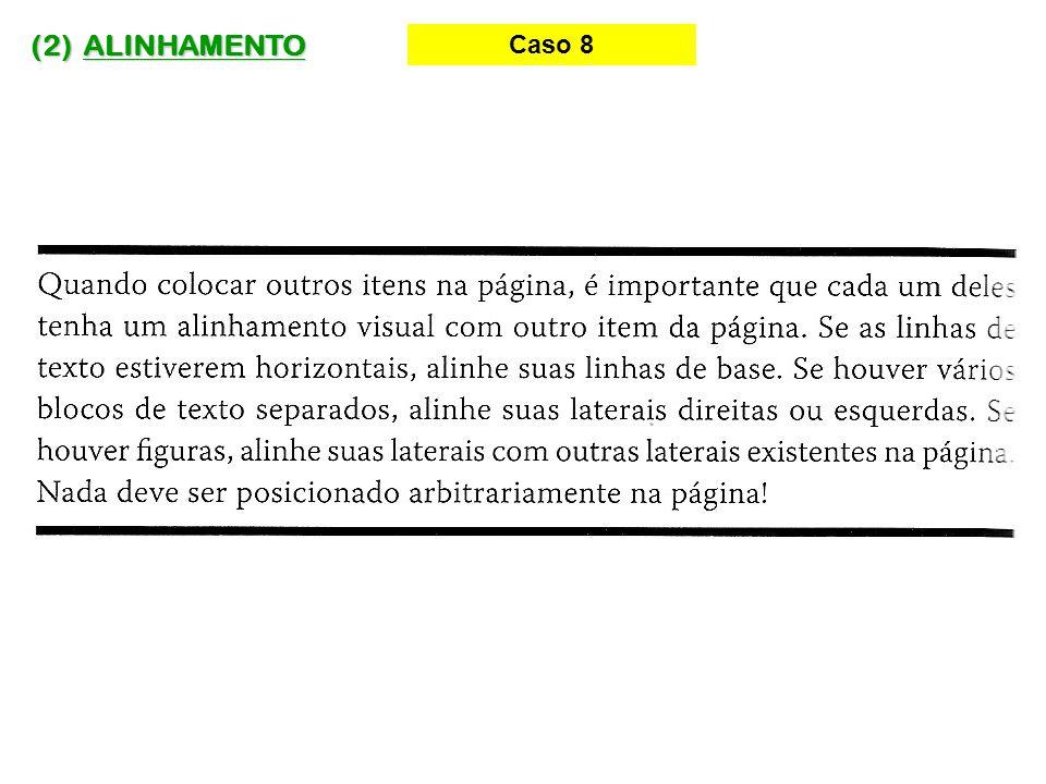 (2) ALINHAMENTO Caso 8