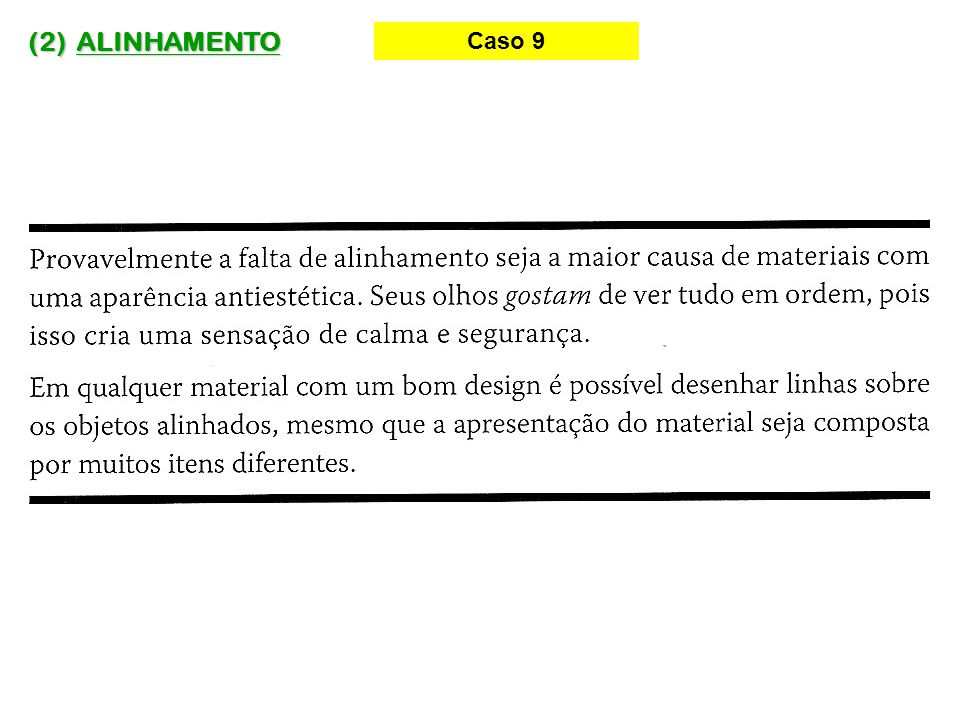 (2) ALINHAMENTO Caso 9