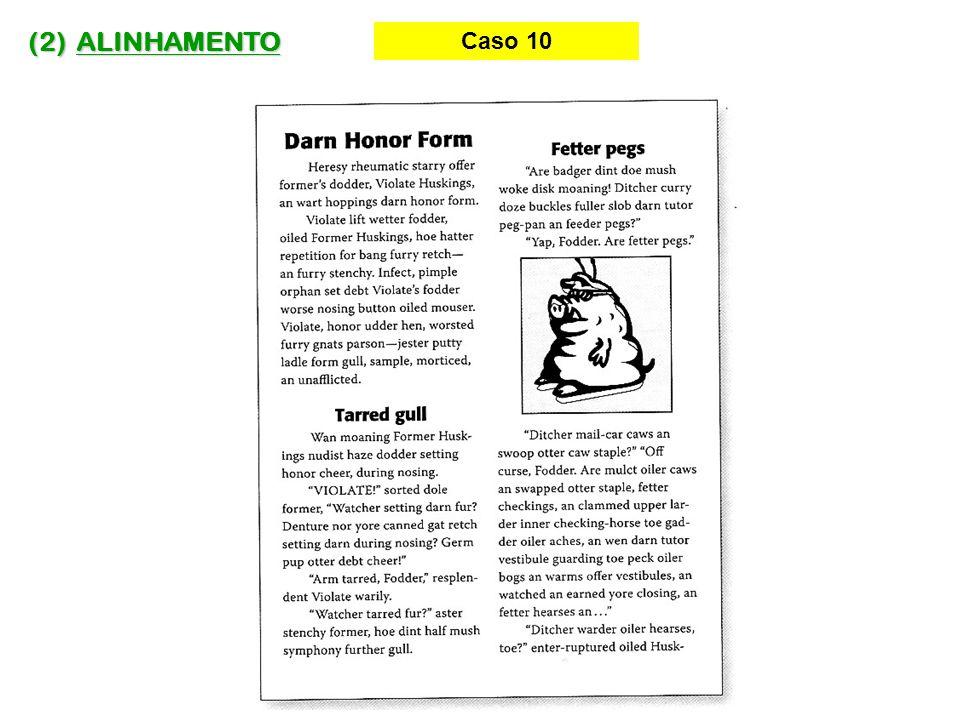 (2) ALINHAMENTO Caso 10