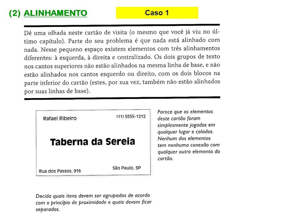 (2) ALINHAMENTO Caso 1