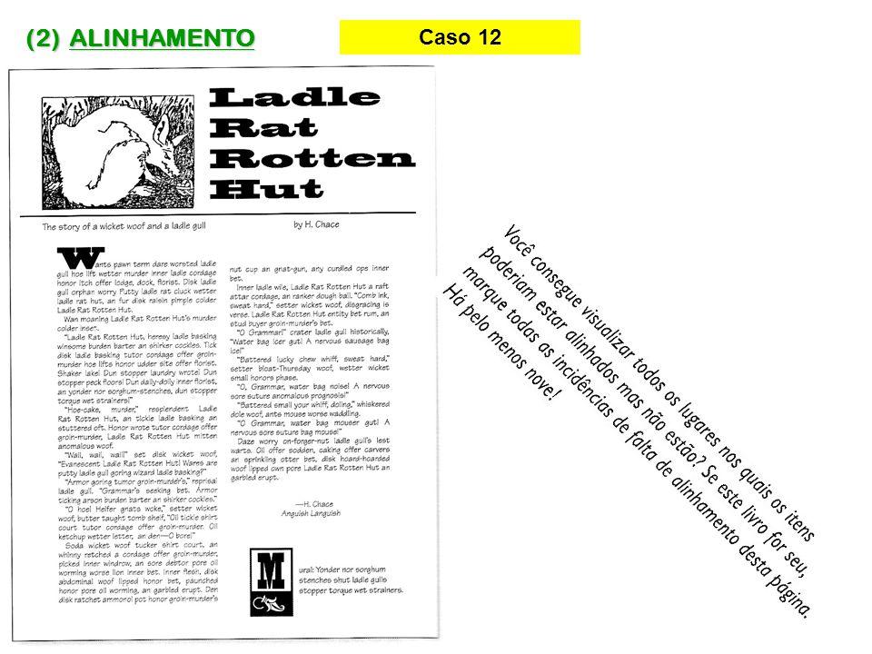 (2) ALINHAMENTO Caso 12