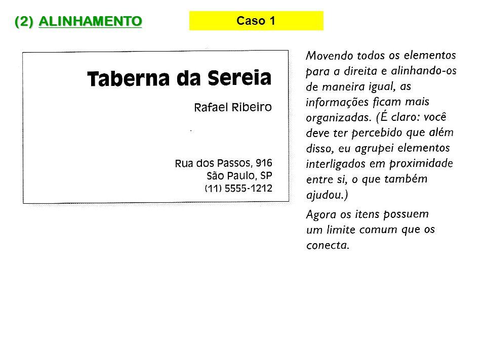 (2) ALINHAMENTO Caso 5