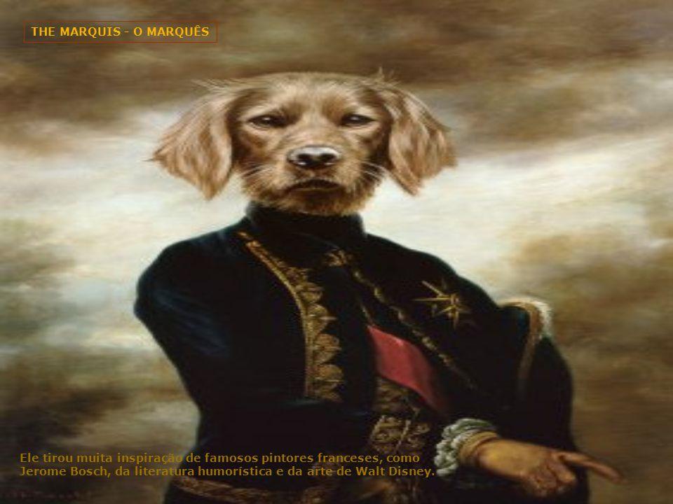 ANCESTRAL CANINO III Contudo, o seu amor pela pintura logo superou o interesse pela restauração e ele decidiu se tornar um pintor em tempo integral, se especializando em excêntricos retratos de cachorros.