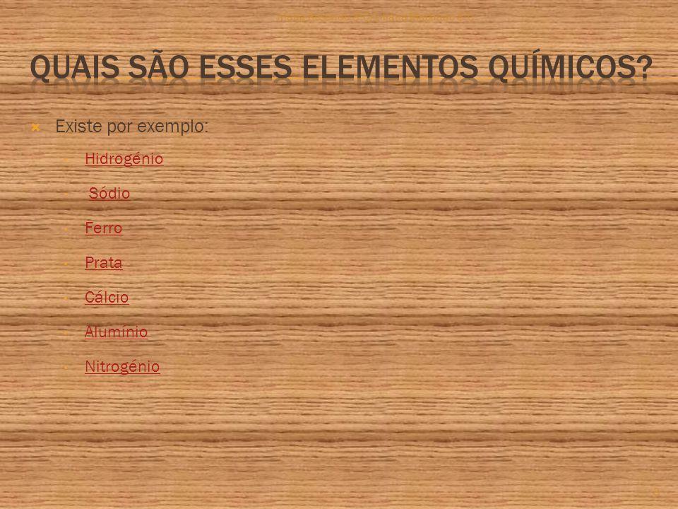  Existe por exemplo: Hidrogénio Sódio Ferro Prata Cálcio Alumínio Nitrogénio 3 Maria Resende 8ºC/Liliana Machado 8ºC