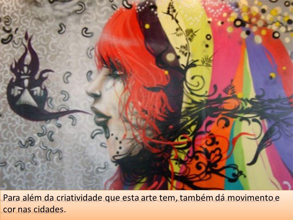 Há artistas que para além de rostos, desenhos abstractos ou outras representações, também fazem frases.