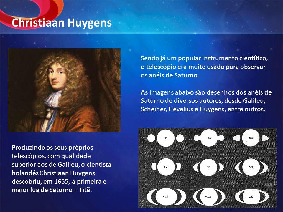 Sendo já um popular instrumento científico, o telescópio era muito usado para observar os anéis de Saturno. As imagens abaixo são desenhos dos anéis d