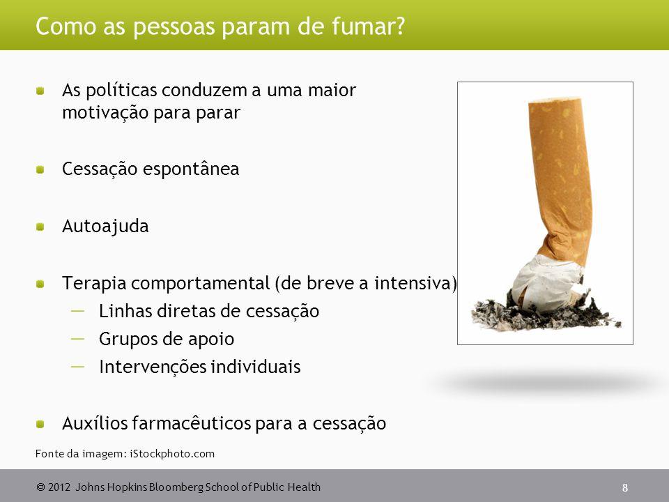  2012 Johns Hopkins Bloomberg School of Public Health Como as pessoas param de fumar.