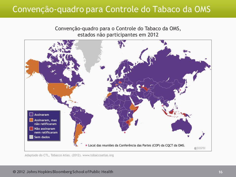  2012 Johns Hopkins Bloomberg School of Public Health Convenção-quadro para Controle do Tabaco da OMS 16