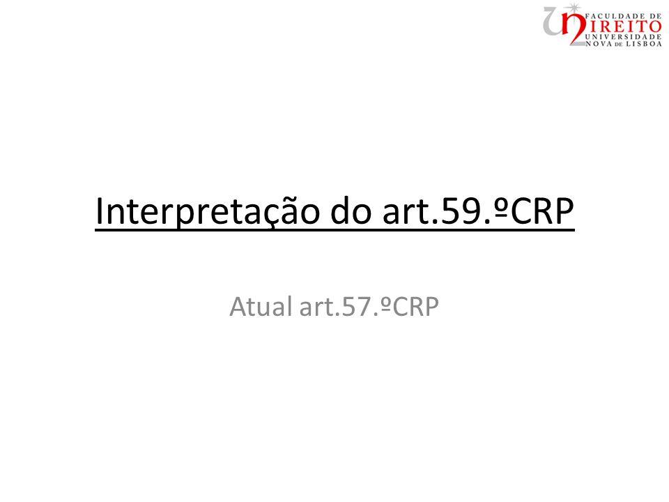 Interpretação do art.59.ºCRP Atual art.57.ºCRP