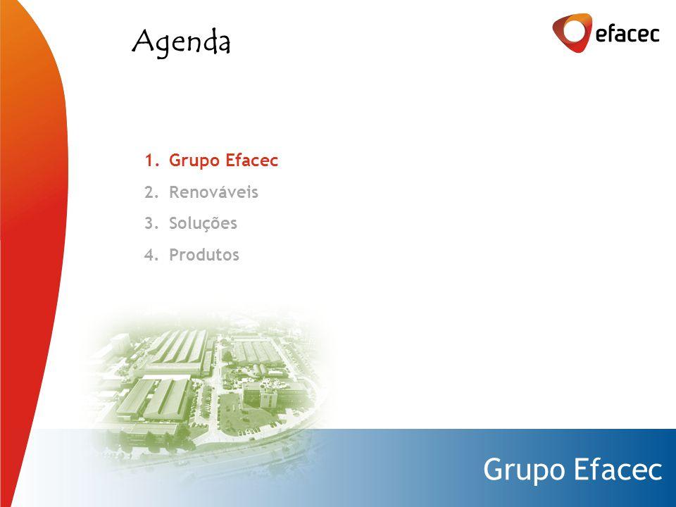 Grupo Efacec 1.Grupo Efacec 2.Renováveis 3.Soluções 4.Produtos Agenda