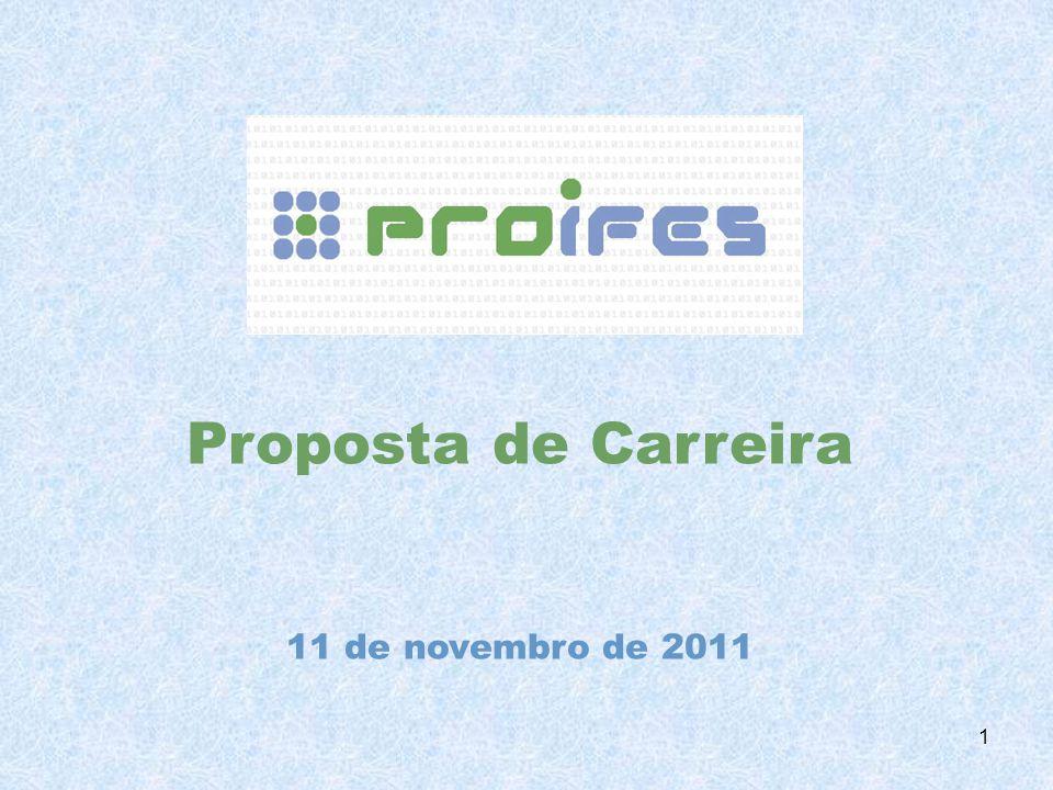 Proposta de Carreira 11 de novembro de 2011 1