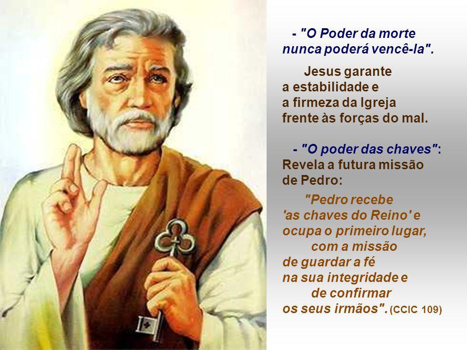 2. Eclesiológica : A IGREJA é convocada à volta de Pedro: