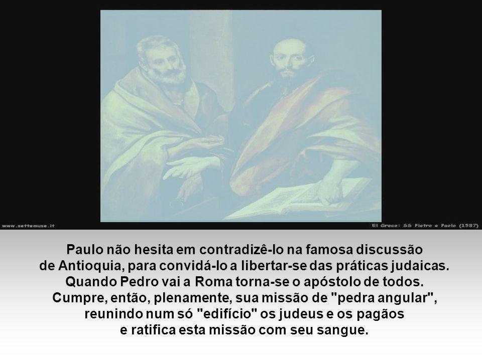 SÃO PEDRO: Simão era um pescador de Betsaida, estabelecido em Cafarnaum.
