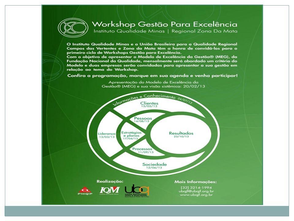 Workshop Liderança – Critério 1 do MEG ® Local: Auditório do SENAI/FATEC Data: 13 de Março de 2013 Horário: 8h30 às 12h30 Endereço: Av.