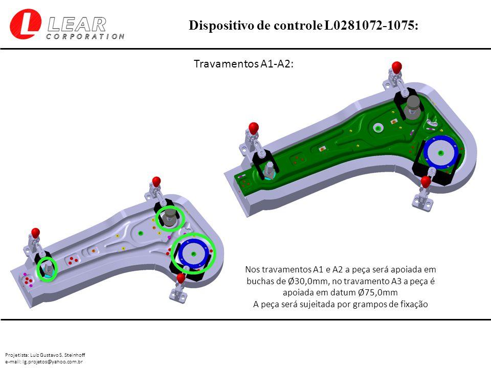 Projetista: Luiz Gustavo S. Steinhoff e-mail: lg.projetos@yahoo.com.br Dispositivo de controle L0281072-1075: Travamentos A1-A2: Nos travamentos A1 e