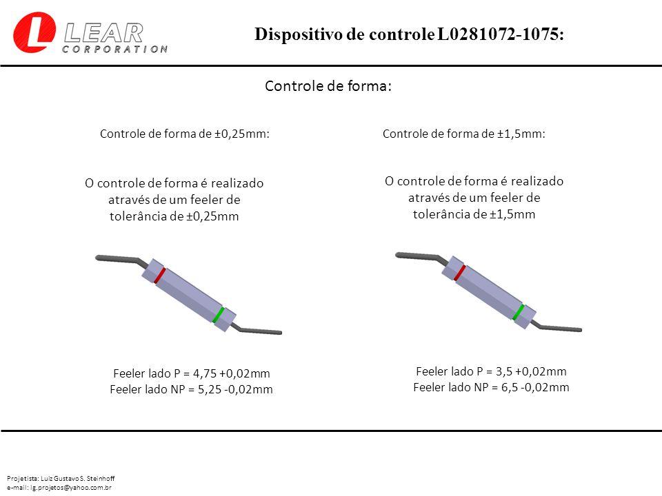 Projetista: Luiz Gustavo S. Steinhoff e-mail: lg.projetos@yahoo.com.br Dispositivo de controle L0281072-1075: Controle de forma: Controle de forma de