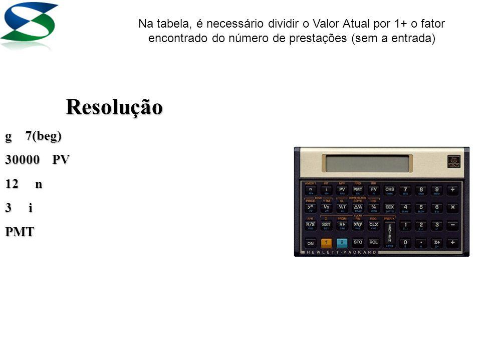 1 – Calcule a prestação mensal de um automóvel que custa R$ 30.000,00, comprado em 1+11 meses a uma taxa de 3% a. m.