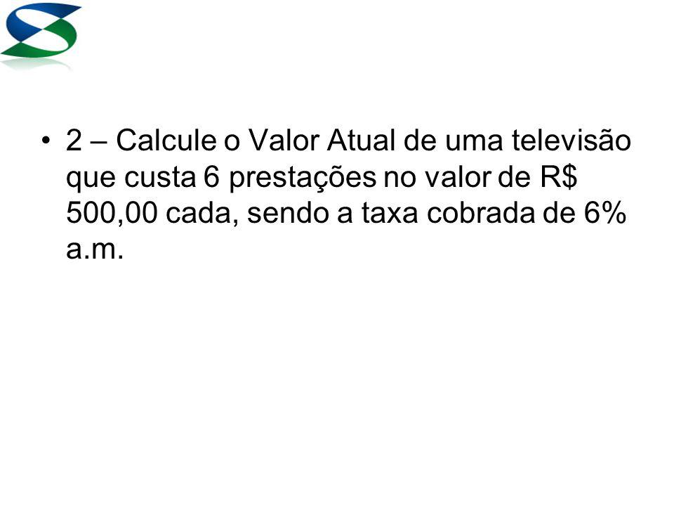 Resolução 30000 PV 12 n 3 i PMT Na tabela, basta dividir R$ 30.000,00 pelo fator encontrado (9,954004)