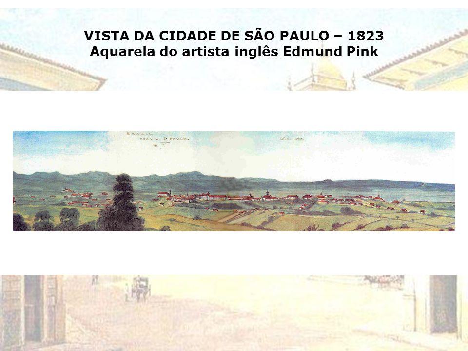 PLANTA DA CIDADE DE SÃO PAULO levantada pelo Capº de Engenheiros RUEINO JOSÉ FELIZARDO E COSTA em 1810 População estimada: 25.000 habitantes e 4.000 f
