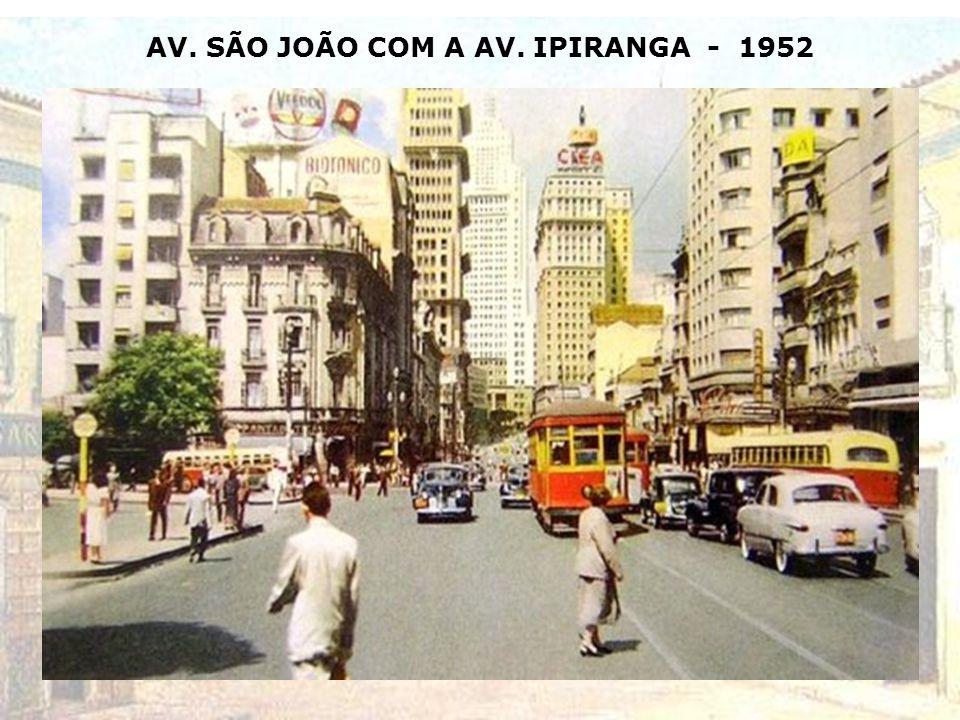 CARTÃO POSTAL DO VALE DO ANHANGABAÚ - 1952