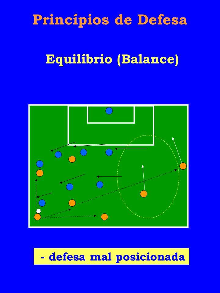 Princípios de Defesa Equilíbrio (Balance) - defesa mal posicionada