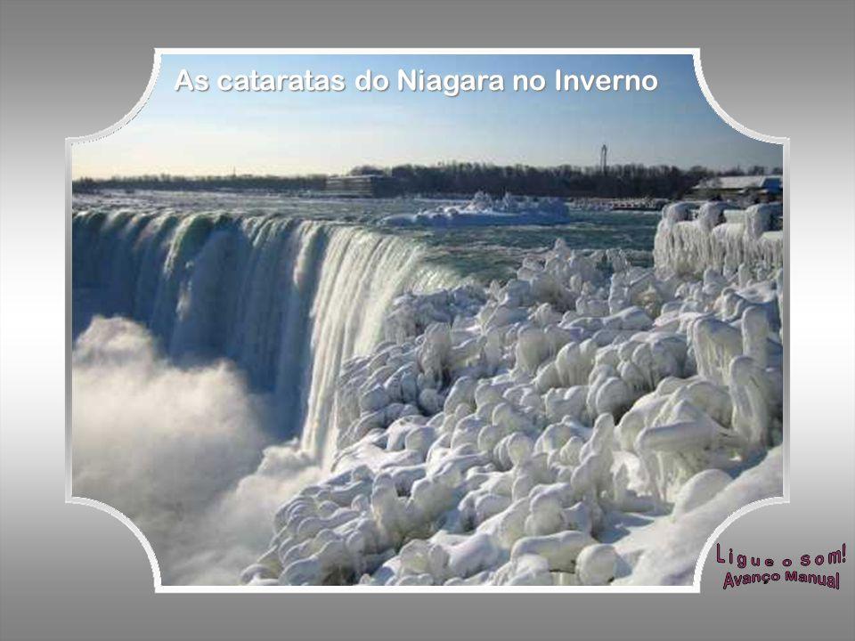 As cataratas do Niagara no Inverno
