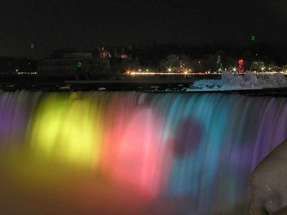 Coloridas. Vista pelo lado Canadense