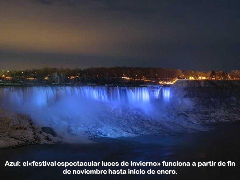 Azul: el«festival espectacular luces de Invierno» funciona a partir de fin de noviembre hasta início de enero.